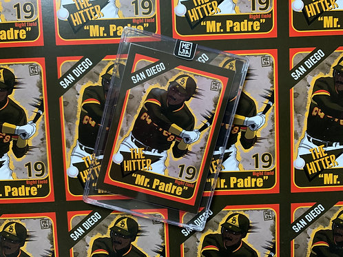 """""""Mr. Padre"""" Limited Edition Illustrated Baseball Card"""