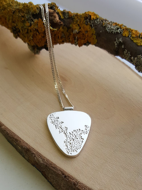 """Sterling Silver """"Lichen"""" Pendant (B)"""