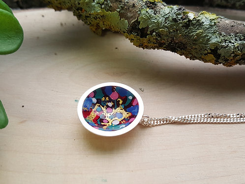 Carnival  - Blue Mix Pendant (small)