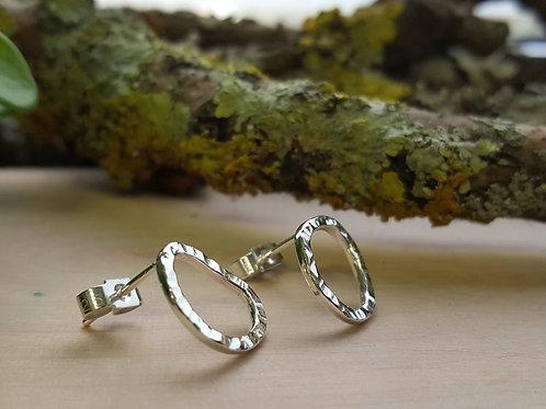 "Sterling Silver ""Pebble"" Earrings"
