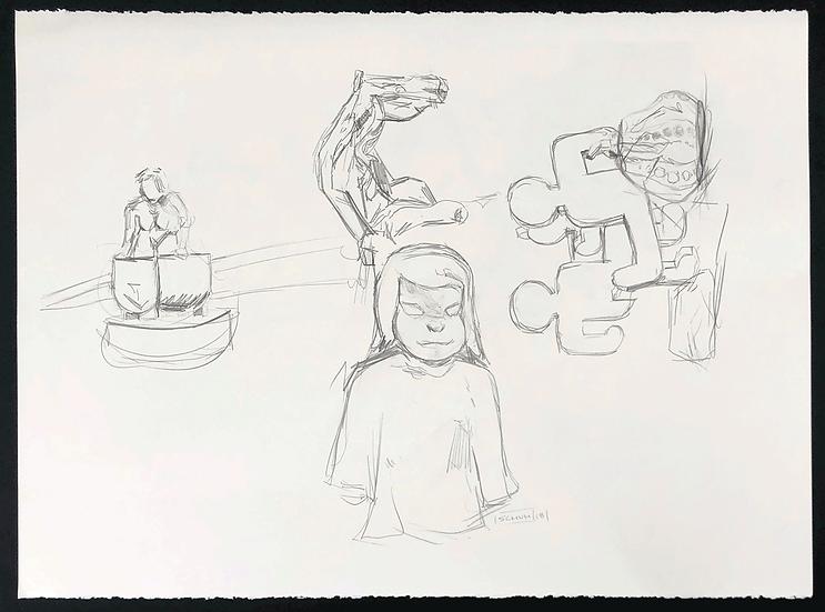 Sculpture Park Sketch