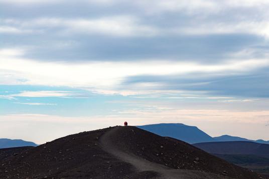 Walk on a volcano, Iceland