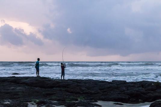 Fisherboys in Goa, India