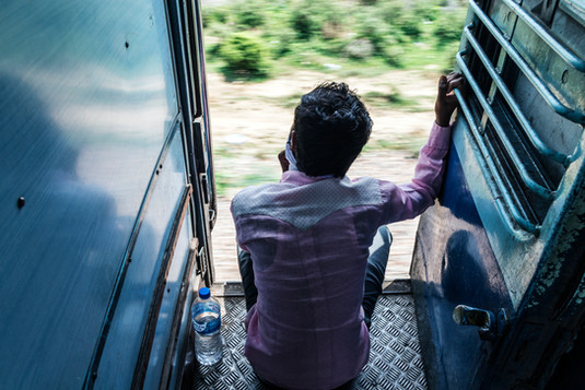 Indian train ride