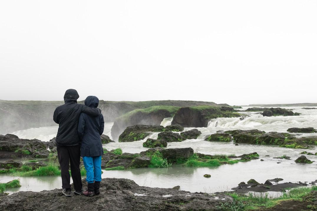 Traveller's hug, Iceland