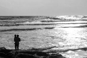 Father and son, Goa, India