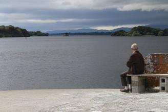 Man on a bench, Killarney, Ireland