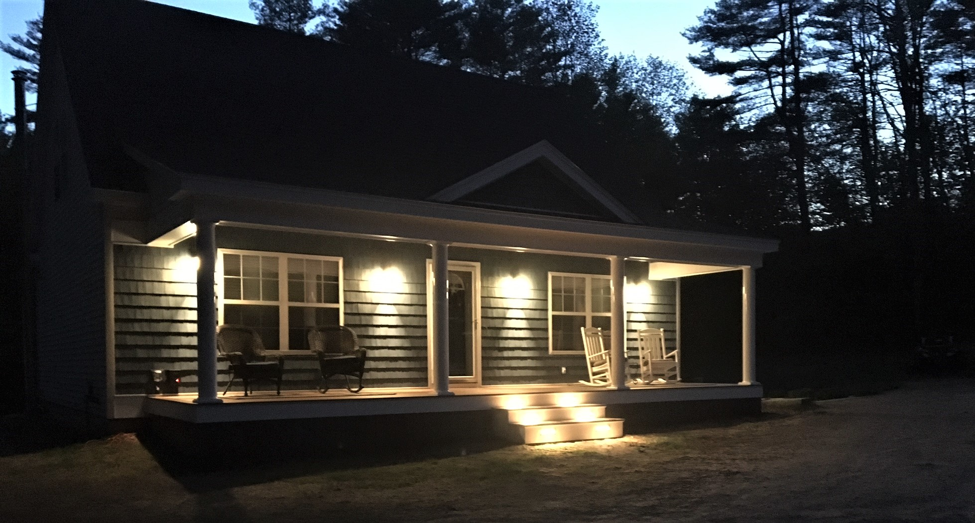 New porch with Lighting