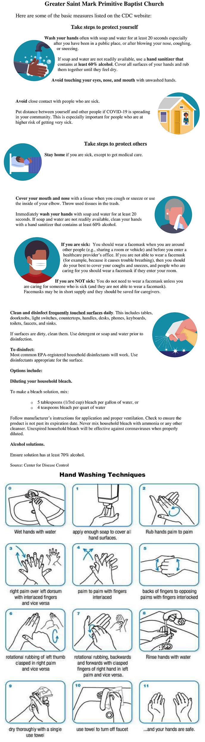 Greater St. Mark Coronavirus Tips 031720