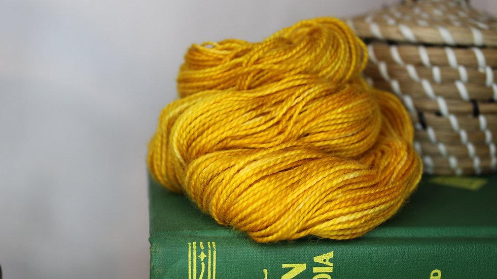 Golden Flax Superwash Merino Hand Dyed Yarn