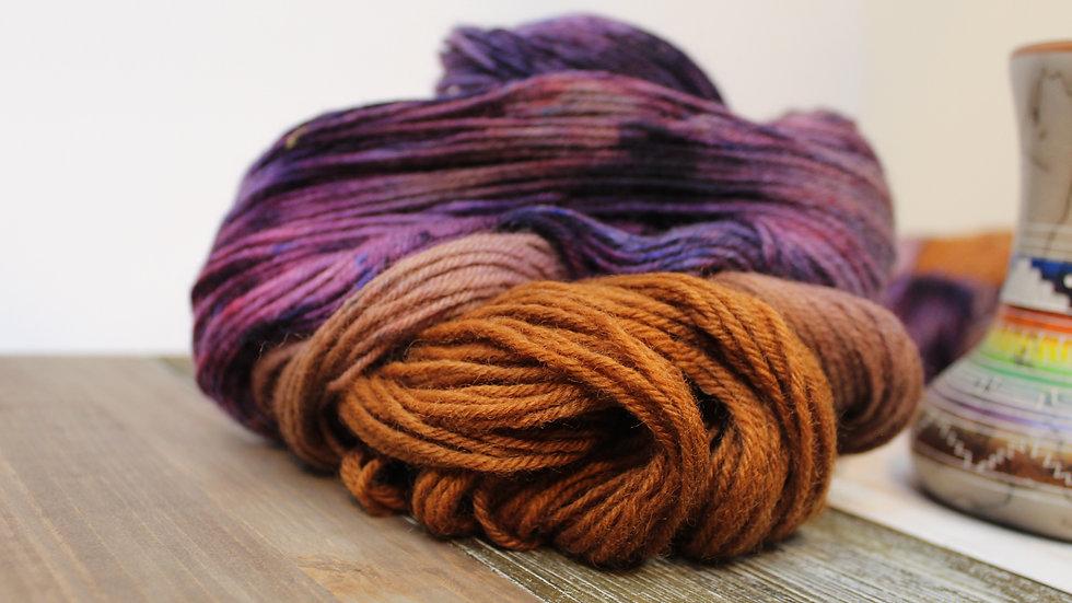 Purple Majesty Sport Weight Peruvian Wool