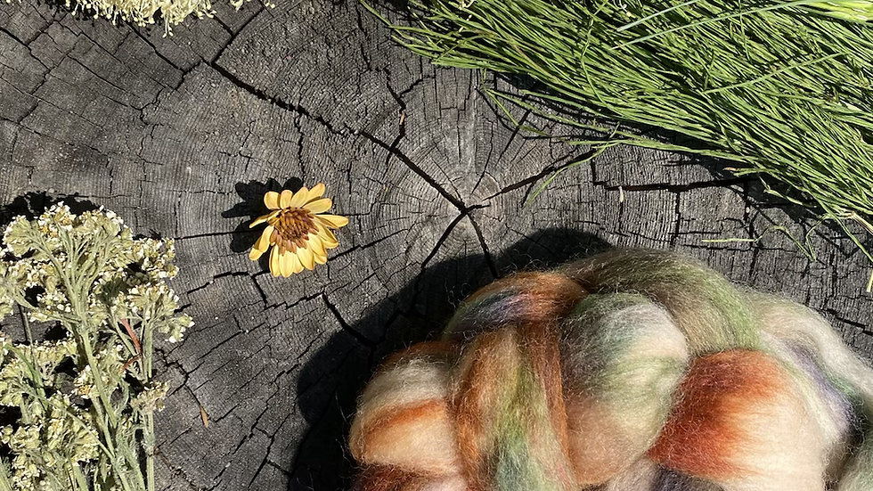 Floral Ethers Merino Roving