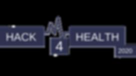 Hack4Health 2020 logo - donker blauw_tra