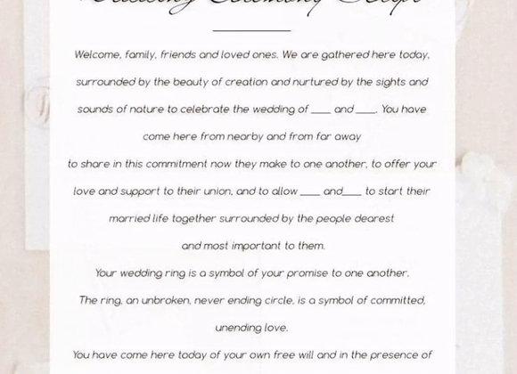 Personalized Souvenir Script