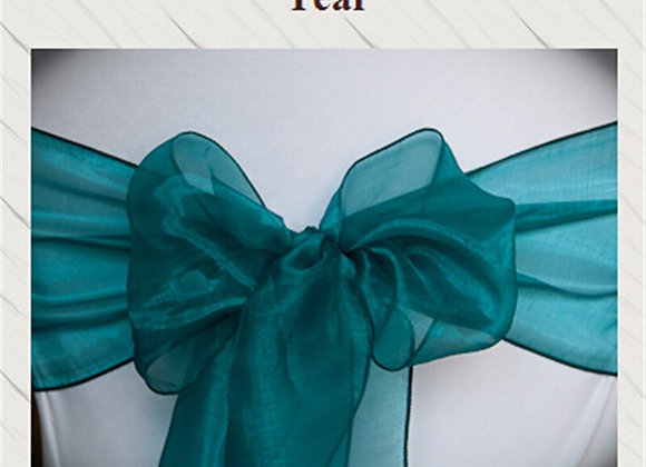 100pcs Teal  Wedding Sashes Chair Bow Banquet Chair Sash for Weddings