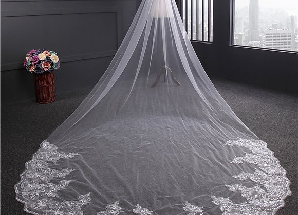 4 Meter White Ivory Cathedral Wedding Veil
