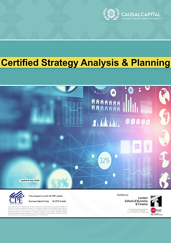 Certified Strategy Analysis and Planning, 2020