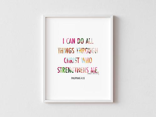 Philippians 4:13 Framed Poster