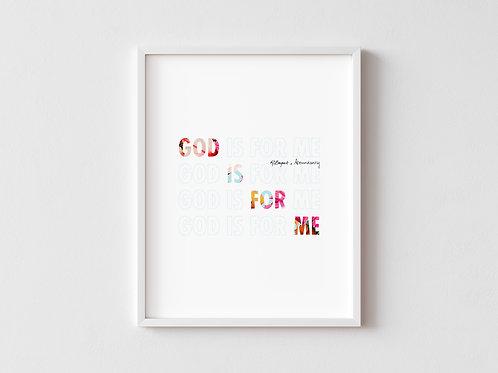 God Is For Me Framed poster