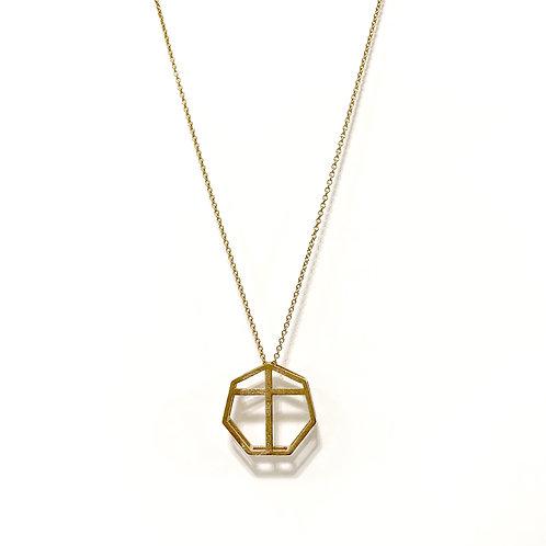 Risen Necklace Brass
