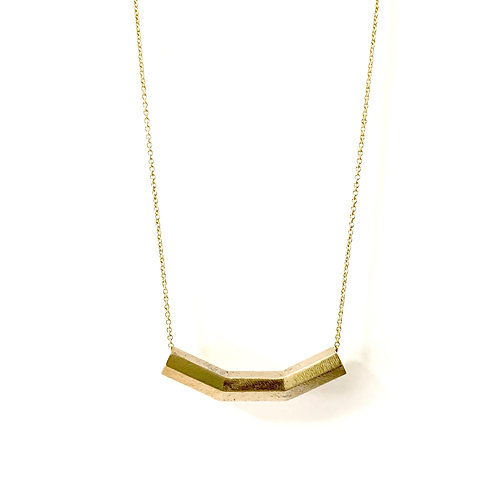 His Yoke Is Easy Necklace Brass
