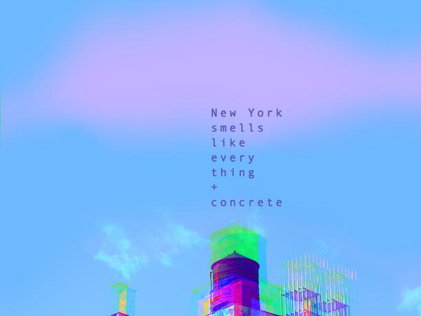 New York smells like evrything + concrete