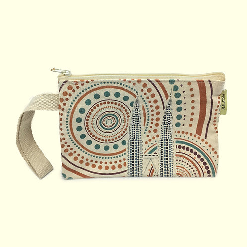 POUCH COTTON - TWIN TOWER (DOTS)