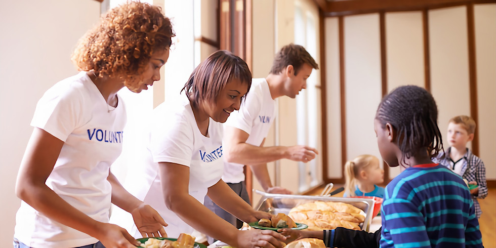 Serving a Thanksgiving Dinner with Achievement Centers