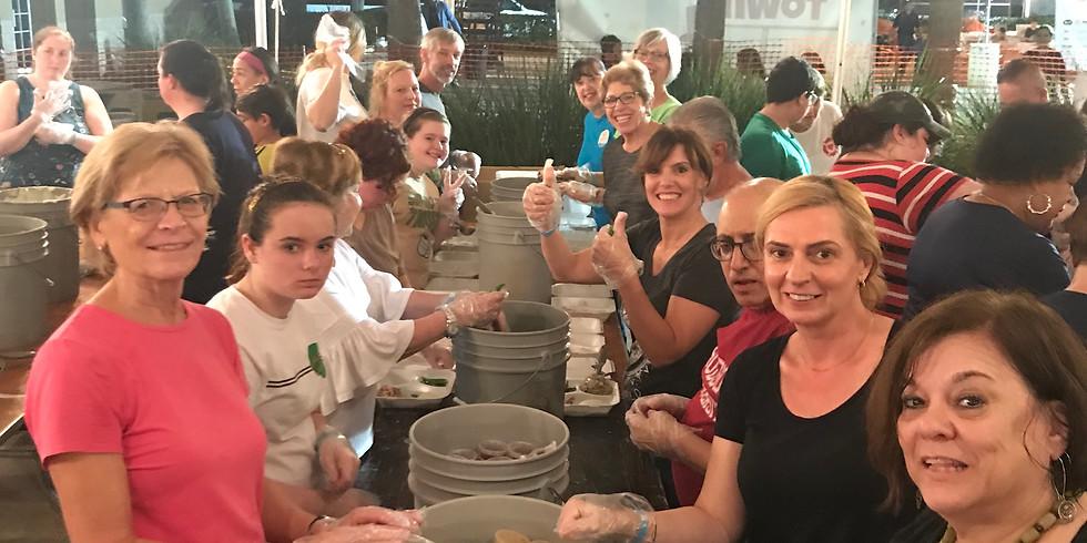 Bucket Brigade! Thanksgiving Dinner Meal Prep