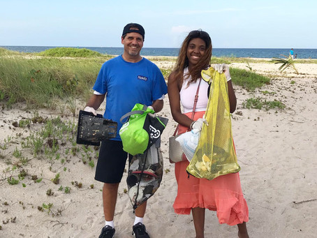 Turtle Tuesday Beach Cleanup with 60+ Volunteers!