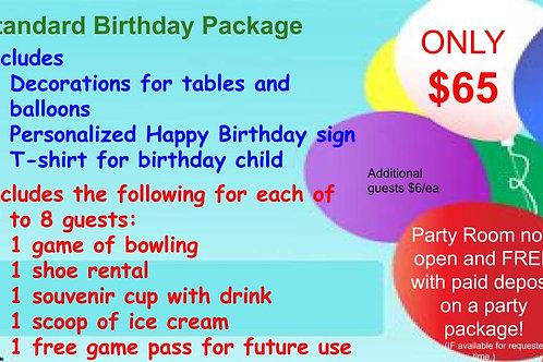 Standard Birthday Package