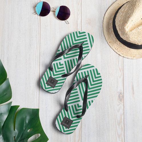 Flip-Flops - Green Palms