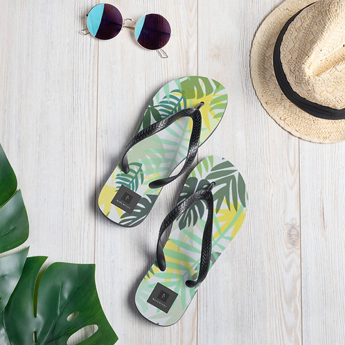 Flip-Flops - Tropical Leaves