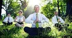 Business People Meditating Nature Relaxa