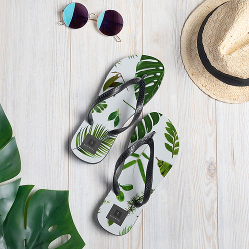 Flip-Flops - Green Leaves