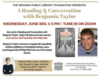 Newark Public Library: A Virtual Conversation with Ben Taylor--New Info