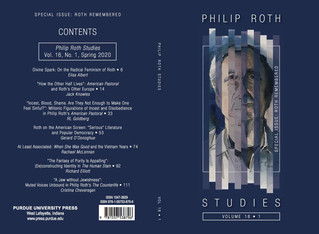 Philip Roth Studies 16.1 is Headed for Print