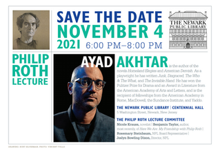 2021 PHILIP ROTH LECTURE FEATURING AUTHOR AYAD AKHTAR