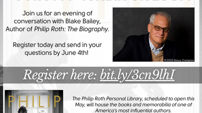 Newark Public Library Event with Blake Bailey--June 9th
