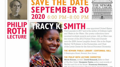 2020 Philip Roth  Lecture to Feature Tracy K. Smith