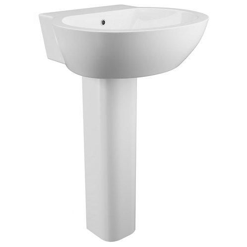 Wharfe Single tap Basin and pedestal