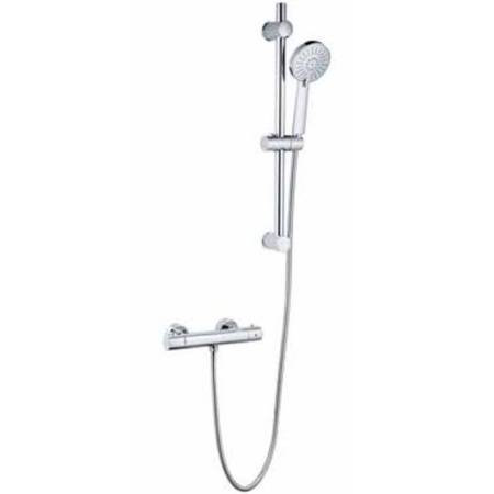 Plan Thermostatic Shower with Adjustable Slide Rail