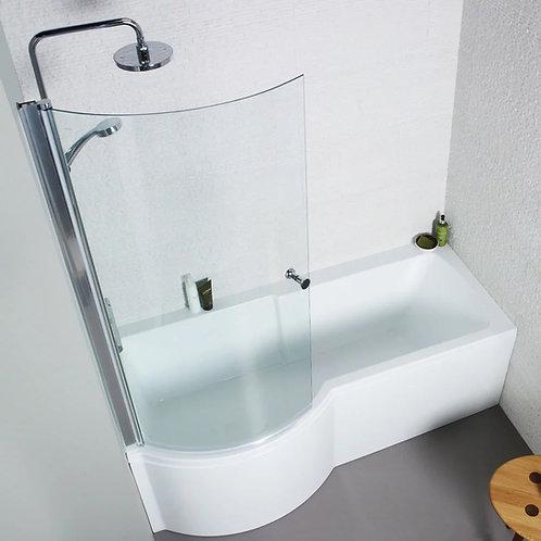 Adapt P Shaped Shower Bath
