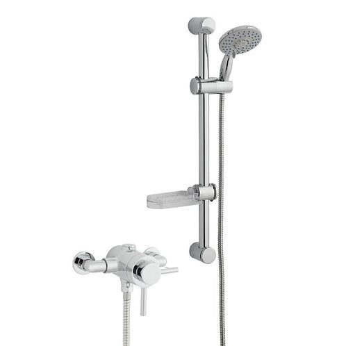 Plan Thermostatic Exposed Shower With Adjustable Slide Rail Kit