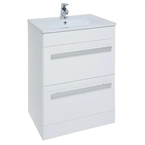 Purity Floor standing 2 drawer Unit & Ceramic Basin