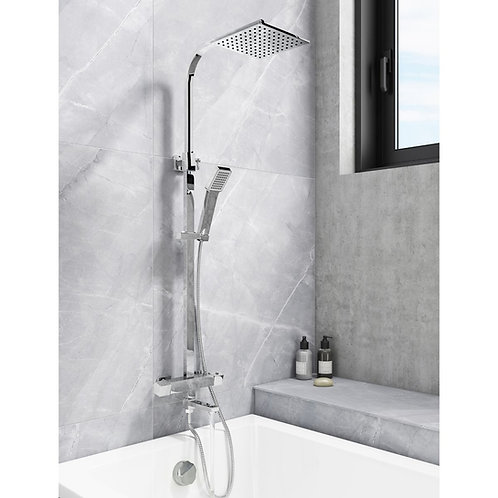 Socorro Thermostatic Twin Shower with Bath filler