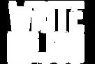 Write For The Job logo white