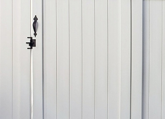 """46""""Wx6'H White Solid Privacy Panel Gate (4' wide)"""