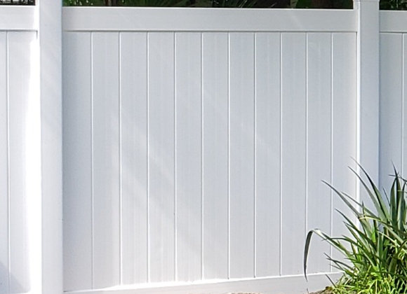 6'Wx6'H White Privacy Panel