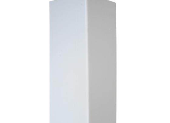 5x5x8 White Vinyl Blank Post